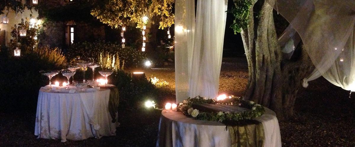 Floricoltura Loi - allestimento floreale matrimonio notturno