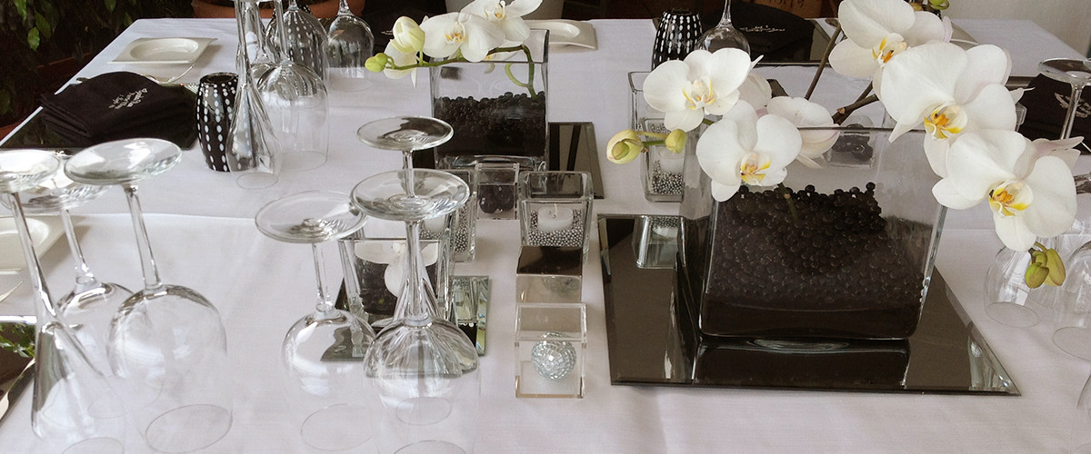 Floricoltura Loi - allestimento tavolo orchidee