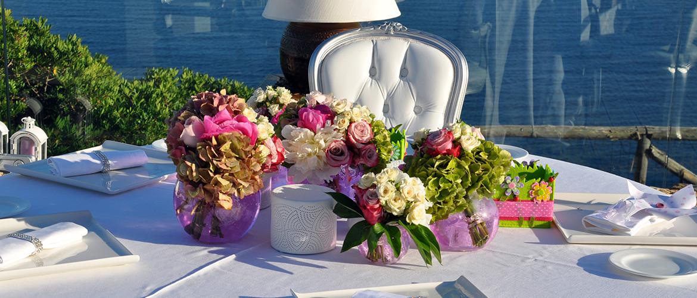 Floricoltura Loi - allestimento tavolo romantico